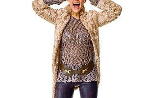 surprised stylish fashion-monger in