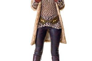 happy trendy fashion-monger standing