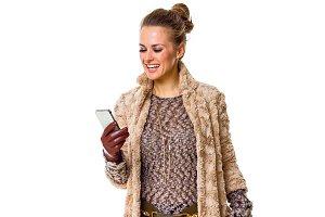 happy modern fashion-monger in winte