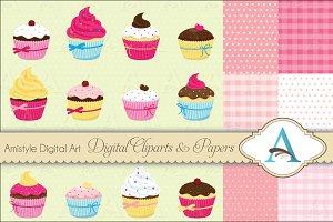 Cupcake Clipart Set