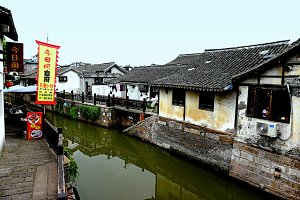 Canal Side Traditional Houses China