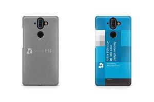 Nokia 8 Sirocco 3d IMD Case Mockup