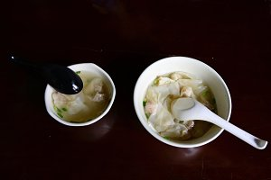 Two Bowls of Chinese Dumplings