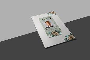 Funeral Program Template - V822