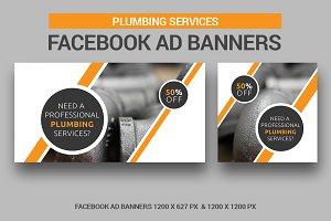 Plumbing Facebook Ad Banners