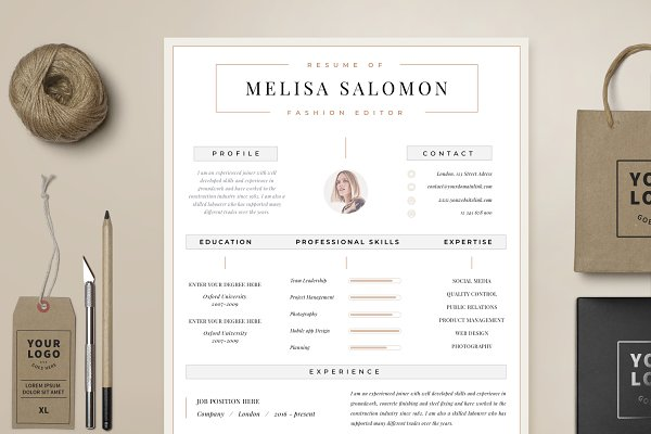 Resume Template for Word & Pages ~ Resume Templates ...