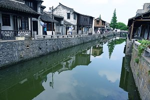 White Houses along Canal China
