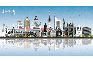 Leipzig Germany City Skyline
