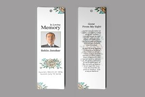 Funeral Bookmark Template V02