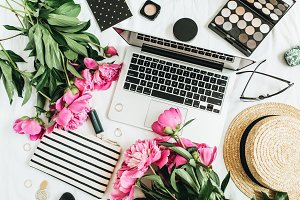 Fashion blogger workspace