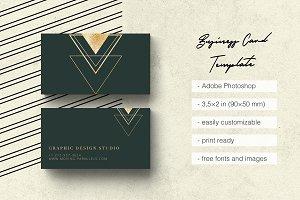 Elegant Gold Business Card 3