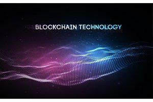 3D Background blockchain technology