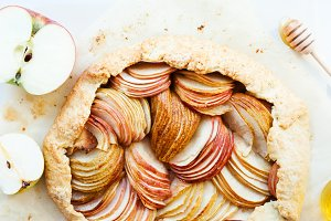 Apple and pear galette.