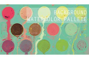 Background watercolor palette