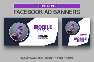 Phone Repair Facebook Ad Banners