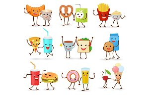 Food kawaii vector cartoon