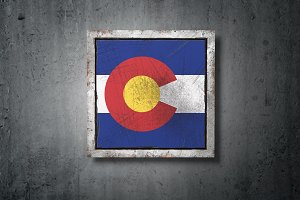 Old Colorado State flag