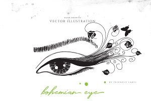 Bohemian Eye Illustration