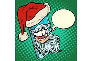 Santa Claus communicates via