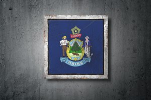 Old Maine State flag