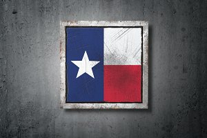 Old Texas State flag