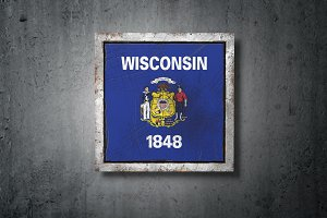 Old Wisconsin State flag