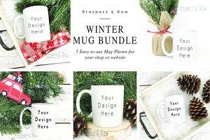 Winter Coffee Mug Mockup Photos