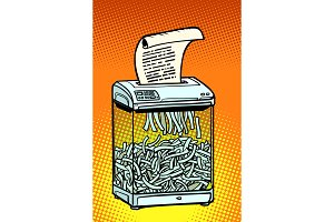 paper shredder, office appliance