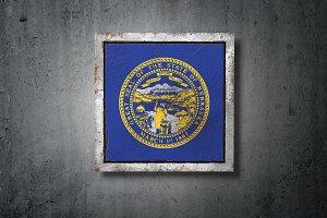 Old Nebraska State flag