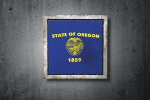 Old Oregon State flag