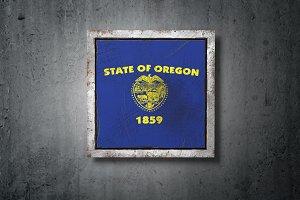 Old Oregon State flag