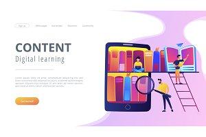 E-library concept vector