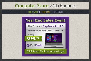 Computer Store Web Banners