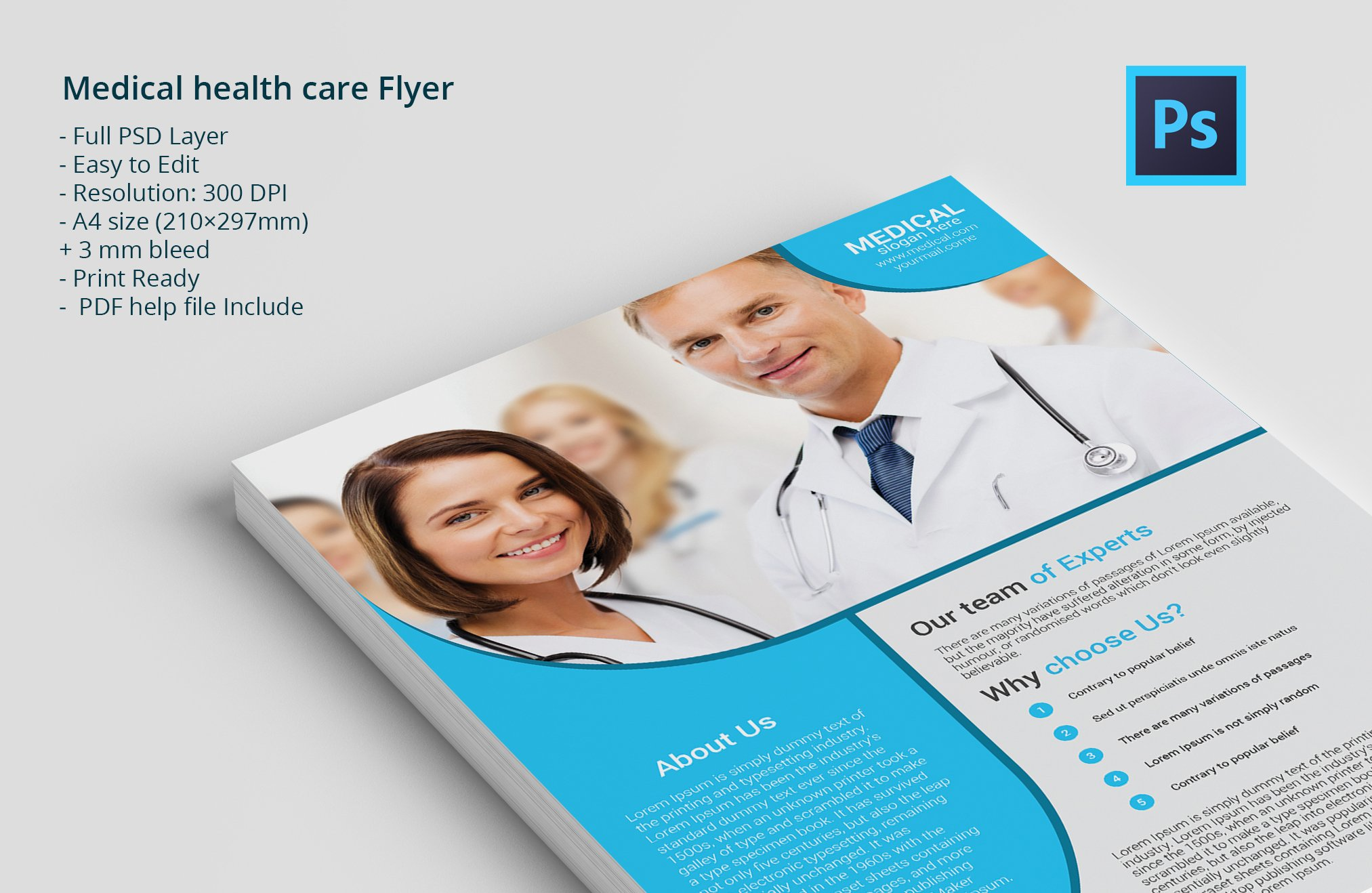 medical health care flyer flyer templates creative market