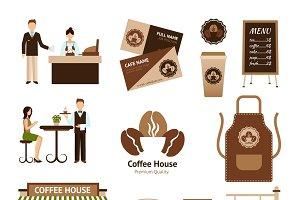 Coffee house icons set