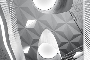 Abstract shapes of modern interior