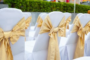 Wedding chairs inside