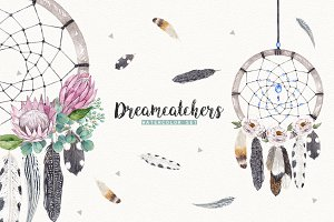 DREAMCATCHERS watercolor set