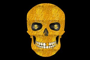 Gold Skull  t-shirt design