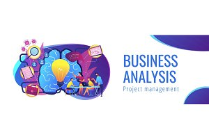 Project management concept header