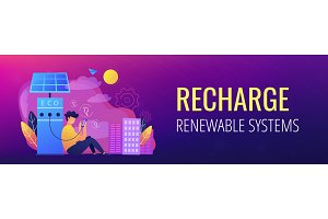 Eco recharge stations in smart city