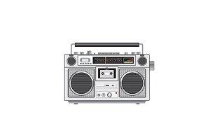 Vintage Portable Radio Cassette Play