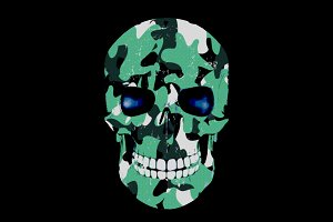 Camo Skull t-shirt design
