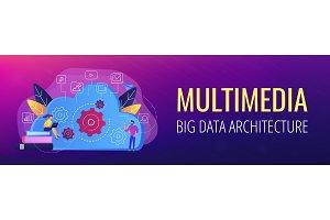 Big data architecture header banner.