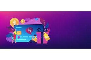 Debit card header banner.
