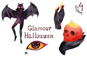 Glamour Halloween party illustration