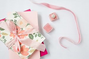 Styled Stock Photo Pink ribbon