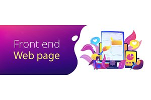 Front end development it header or