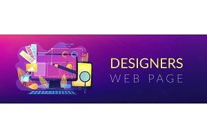 Web design development header or