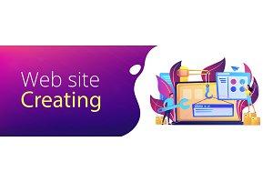 WEB development header or footer